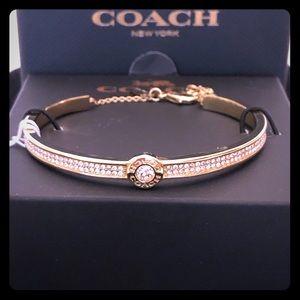 COACH- NIB/NWT- open circle pave bracelet